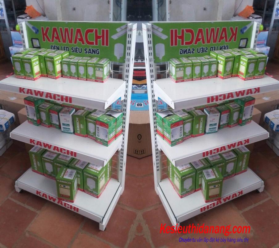 Kệ siêu thị trưng bày bóng đèn dạng lưới