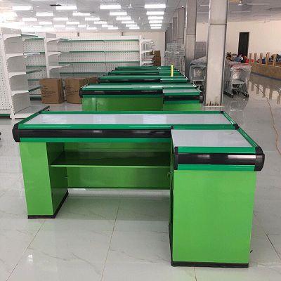 Bàn thu ngân lắp đặt cho hệ thống siêu thị chúng tôi đã lắp đặt cho khách hàng