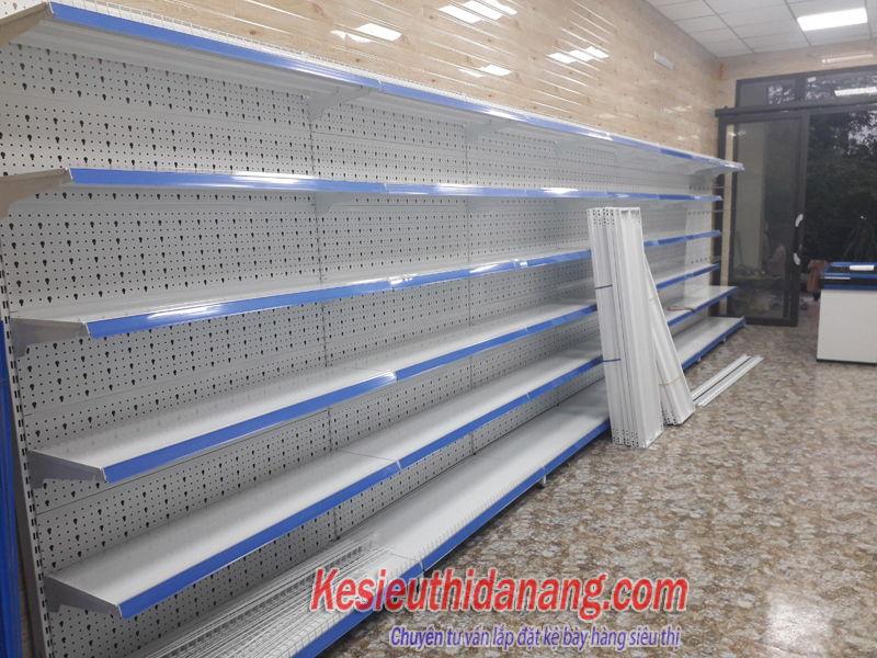Kệ đơn siêu thị tôn đục lỗ