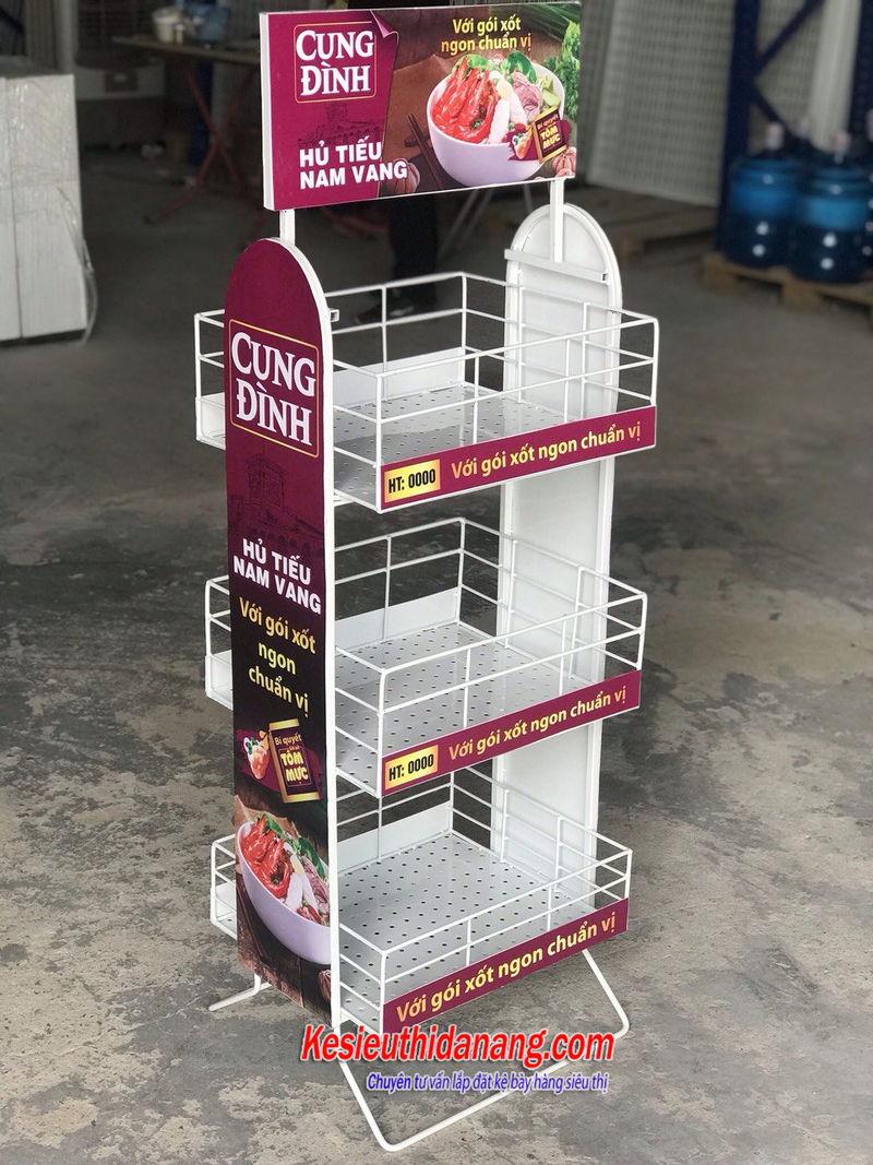 Kệ trưng bày quảng cáo mỳ cung đình