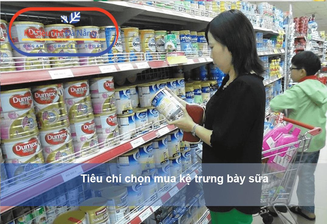 Tiêu chí chọn mua kệ trưng bày sữa